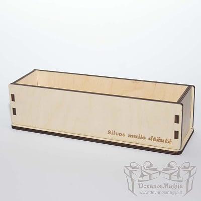 Medinė dėžutė muilo gamybai 26x7x7cm