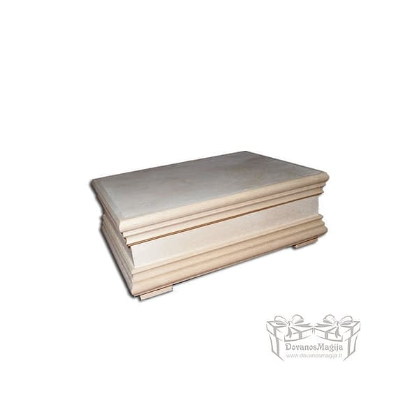 Medinė dėžutė stačiakampė 22x17x8cmMedines Dovanos Medinė dėžutė