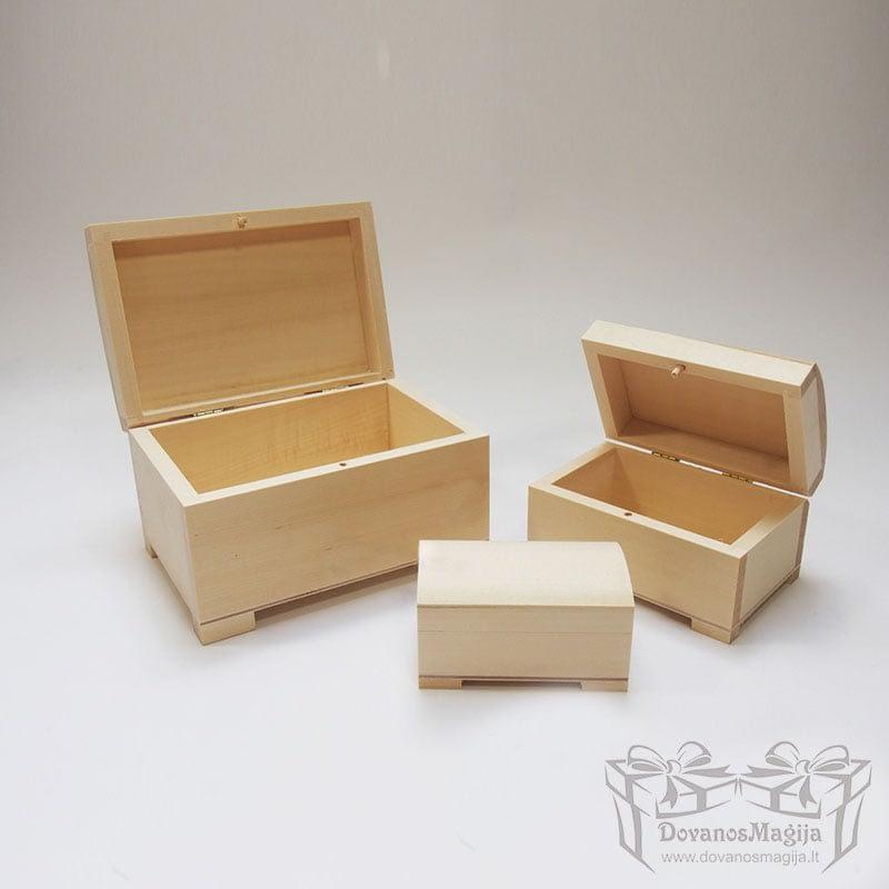Medinė dėžutė stačiakampė 17x11x10cmMedinės Dovanos Medinė dėžutė