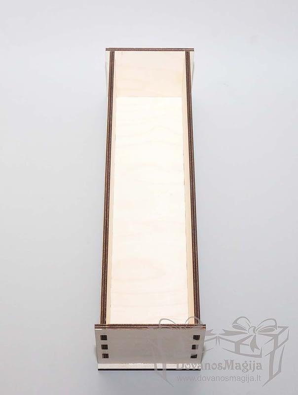 Medinių dėžučių gamyba pagal invidualų užsakymą Medinė dėžutė muilo gamybai 35x9x9cm