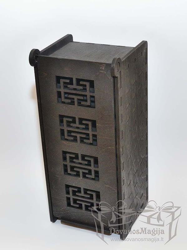 Medinė dėžutė pavyzdžiams 35x14x15cm dažyta