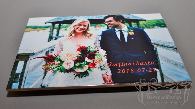 Vestuvinė nuotrauka ant keraminės plytelės su stoveliu, darbų galerija
