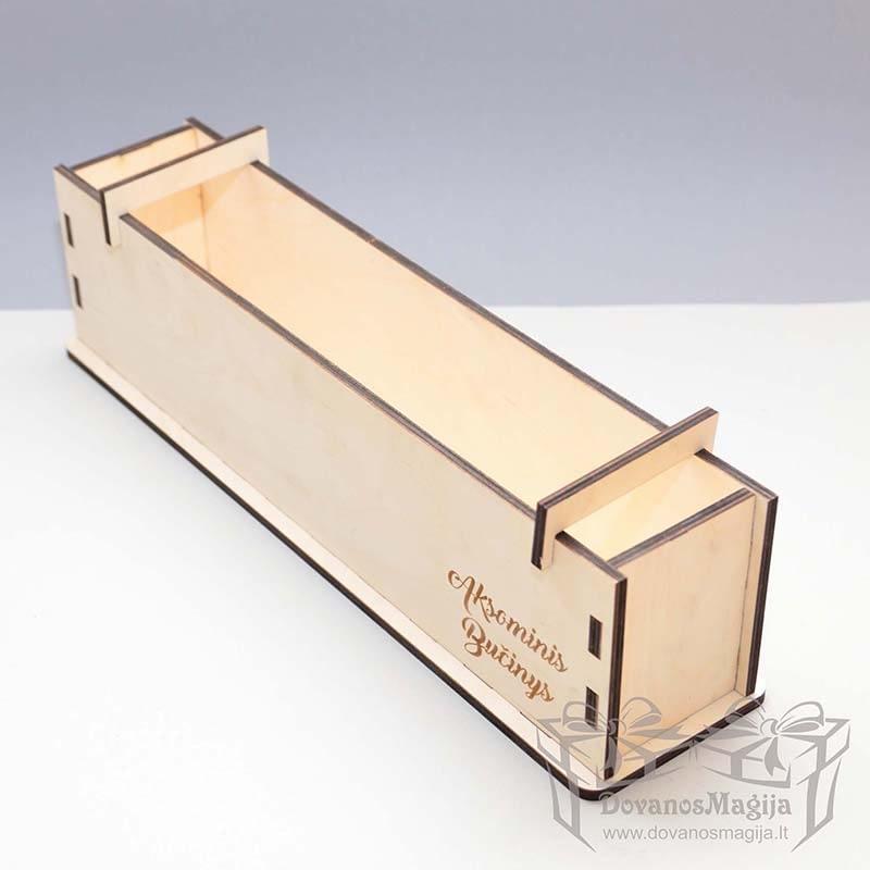 Medinė dėžutė muilo gamybai 38x7x10cm išardoma