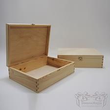 Medinė dėžutė stačiakampė 34x25x10cm MedinesDovanos Medinė dėžutė