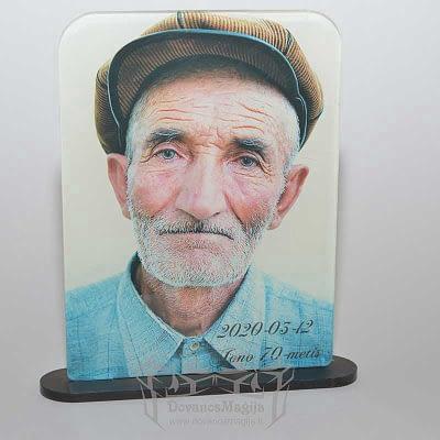foto rėmelis, foto stovas iš organinio stiklo 13x18x3cm spauda, UV spausdinimas DovanosMagija_ Foto stovas iš organinio stiklo 01