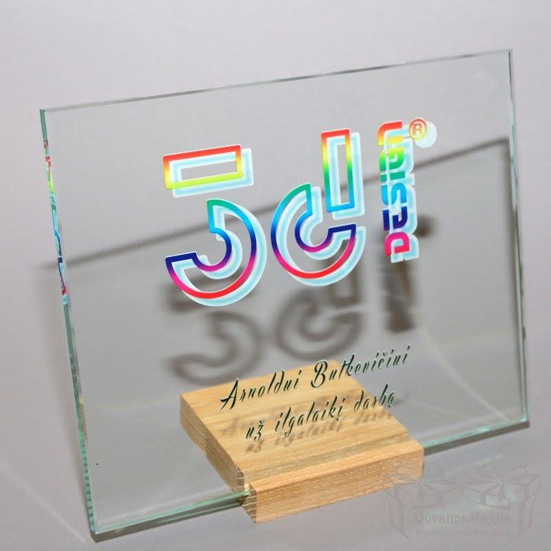 verslo dovanos stiklas 3d