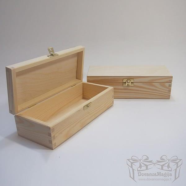 Medinė dėžutė stačiakampė 24x10x7cm MedinesDovanos Medinė dėžutė