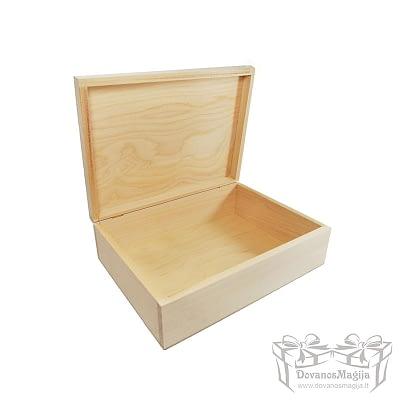Medinė dėžutė stačiakampė 27x20x8cm Medinės Dovanos Medinė dėžutė