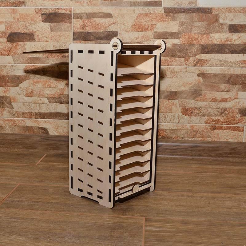 Medinių dėžučių gamyba pagal invidualų užsakymą Medinė dėžutė pavyzdžiams 35x14x15cm