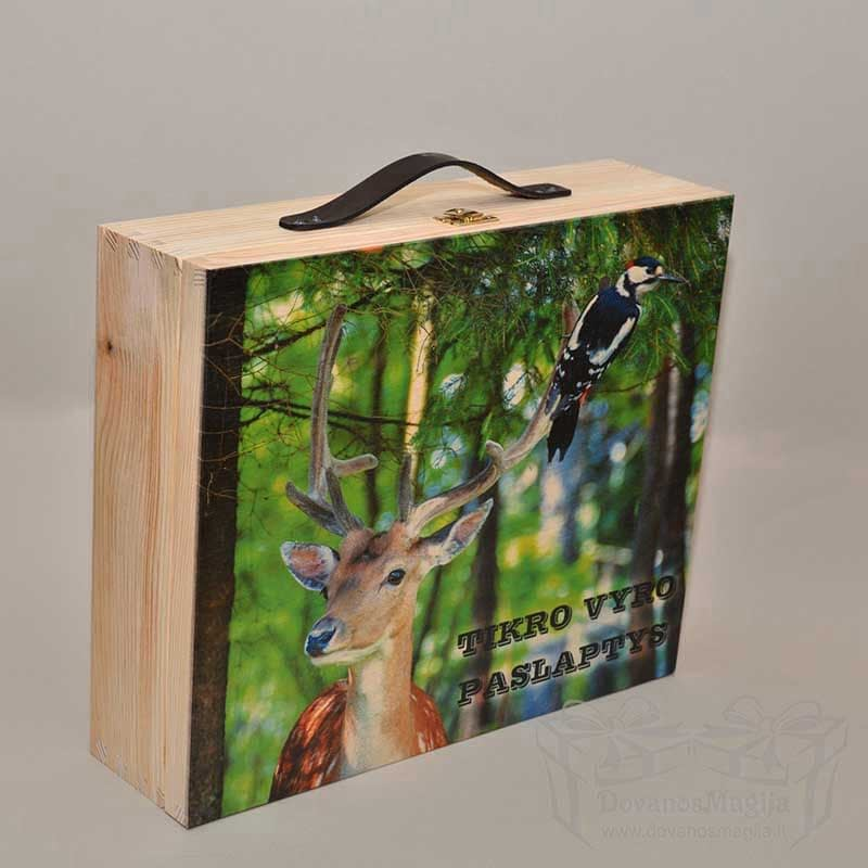 spauda, medinė dėžutė