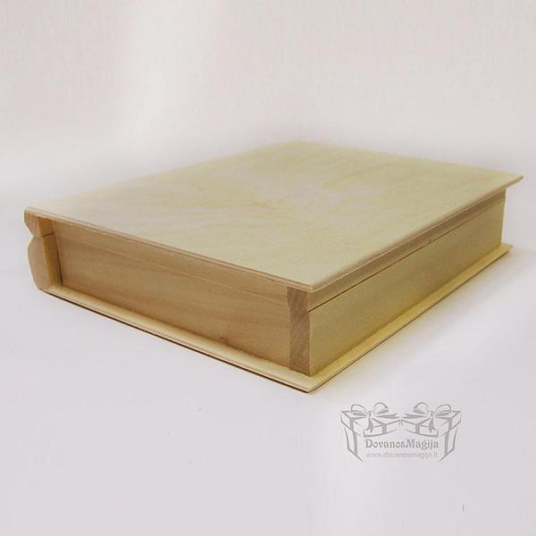 Medinė dėžutė knyga 21x17x4cm MedinesDovanos Medinė dėžutė