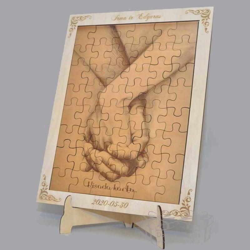 dovanos įdėja, medinė dėlionė, rėmelis dėlionei