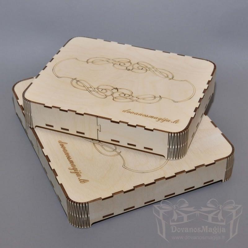 Medinė dėžutė stiklui