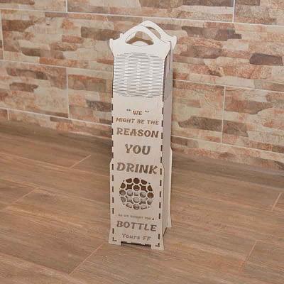 Medinė dėžutė krepšelis 10x10x48cm
