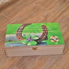 Spauda ant medinės dėžutės iki 40x30xh13cm