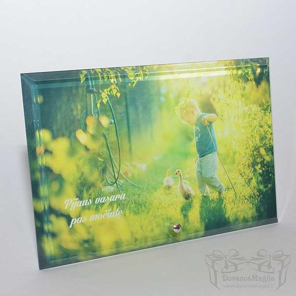 foto ant stiklo nuotrauka ant stiklo, 16x25x1cm