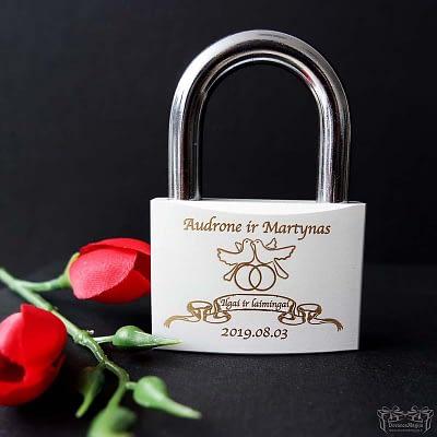Spyna su graviravimu vestuvėms
