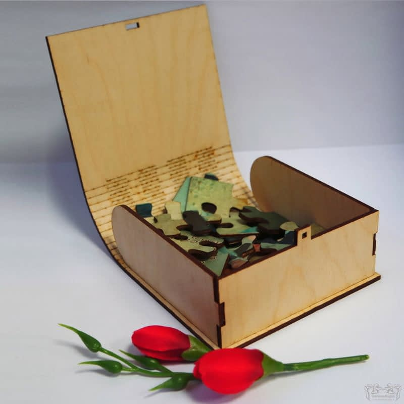 Dėžutė dėlionėms, darbų galerija, dėžutė daiktams, skrynelė