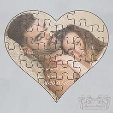medinė dėlionė, Valentino diena, Medinė dėlionė iš plokštės Medinė dėlionė Širdelė 21x21cm