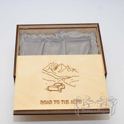 Medinė dovanos, Medinė dėžutė nuotraukai su indeklu iš d