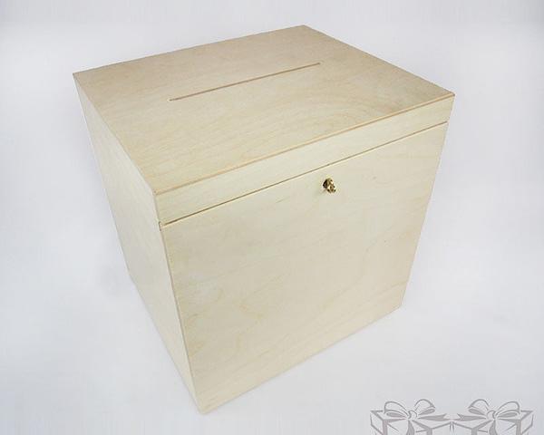 Medinė dėžutė vokams 29x25x30cm MedinesDovanos Medinė dėžutė
