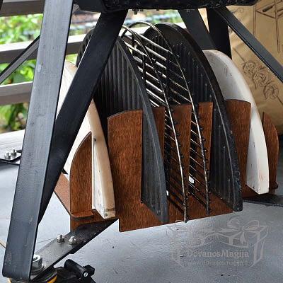 Priedų stovas kamado kepsninei 30x30x15cm